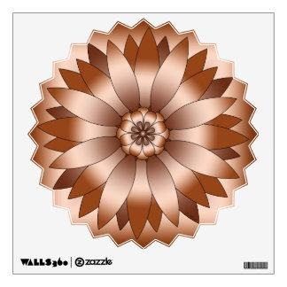 Rosetón de cobre vinilo adhesivo