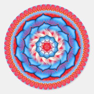 Rosetón de la mandala pegatina redonda