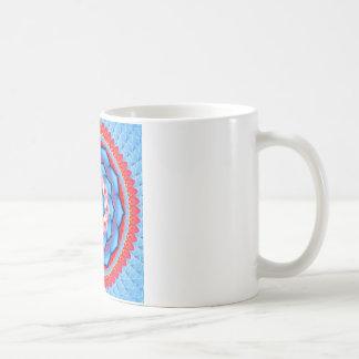 Rosetón de la mandala taza de café