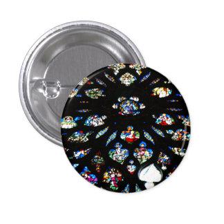 Rosetón de Notre-Dame, Paris Pin Redondo De 1 Pulgada