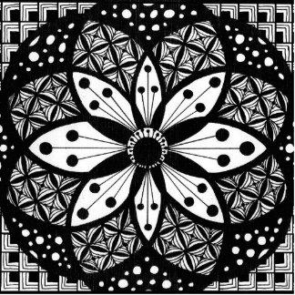 Rosetón de Zentangle Escultura Fotografica