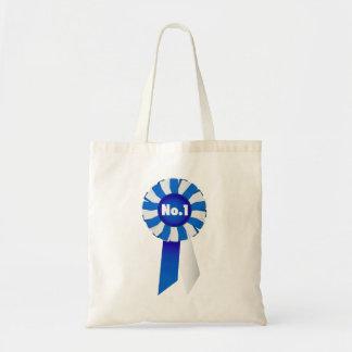 Rosetón en bolso azul y del blanco de no. 1