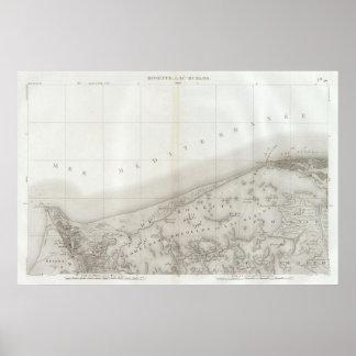 Rosetón, laca Burlos, Egipto Póster