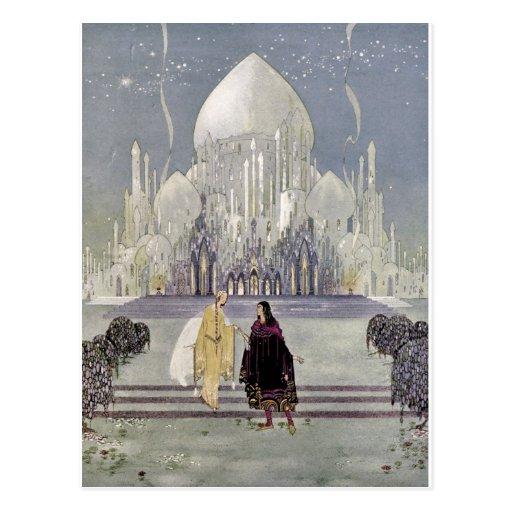 Rosetón y príncipe Charmant Postales