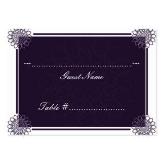 Rosetones de las glicinias que casan la tarjeta de tarjetas de negocios