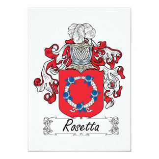 Rosetta Family Crest Card