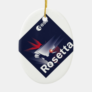 Rosetta Spacecraft Double-Sided Oval Ceramic Christmas Ornament