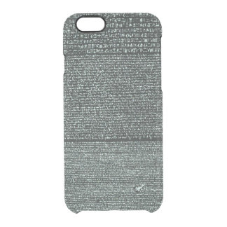 Rosetta Stone Ancient Egyptian hieroglyphs Clear iPhone 6/6S Case