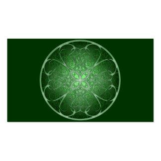 Rosetta verde tarjetas de visita