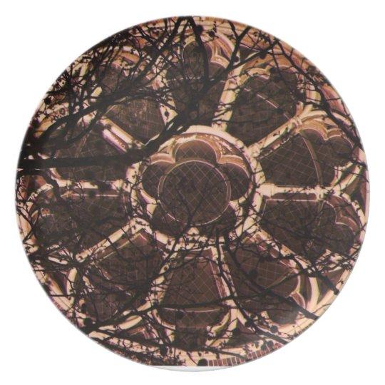 Rosetta Window Melamine Plate