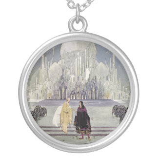 Rosette and Prince Charmant Round Pendant Necklace