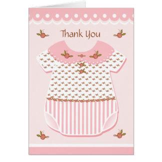 Rosette Baby Romper Card