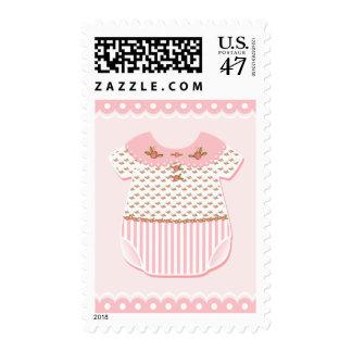 Rosette Baby Romper Postage Stamp