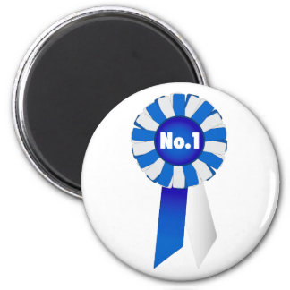 Rosette in Blue and White No. 1 Magnet