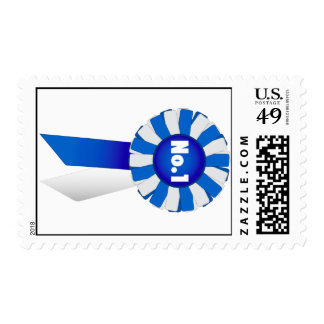 Rosette in Blue and White No. 1 Postage