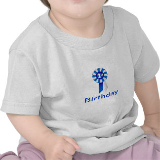 Rosette in blue/white 2nd Birthday Infant Teeshirt T-shirt