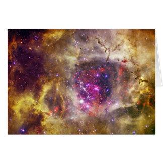 Rosette Nebula Caldwell 49 The Heart of a Rose Card
