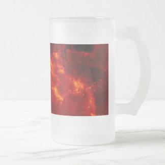 Rosette Nebula Photo Frosted Glass Beer Mug