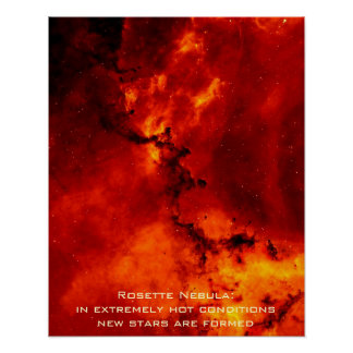 "Rosette Nebula Poster Portrait 16"" x 20"""