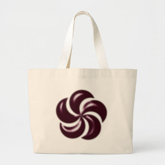 rosette rose canvas bags