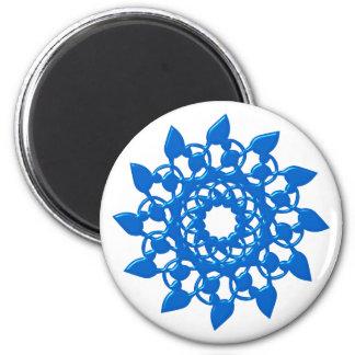 Rosette rose blue blue magnet