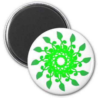 Rosette rose green green magnet