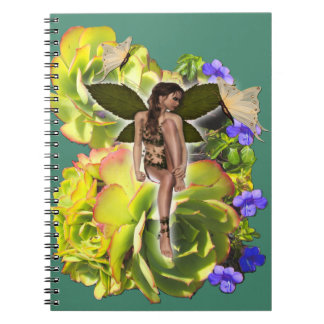 Rosette Succulent visitors Spiral Notebook
