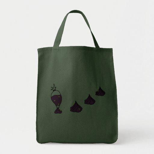 Rosettes Dark Bag