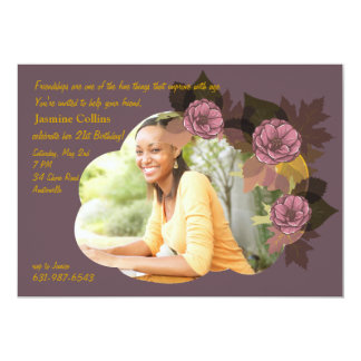 Rosettes Photo Invitation