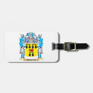Rosetti Coat of Arms - Family Crest Luggage Tags