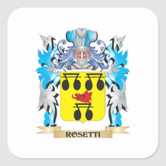 Rosetti Coat of Arms - Family Crest Square Stickers