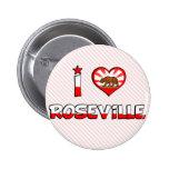 Roseville, CA Pinback Button