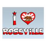 Roseville, CA Postcard
