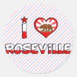 Roseville, CA Round Stickers