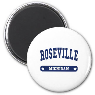 Roseville Michigan College Style tee shirts 2 Inch Round Magnet