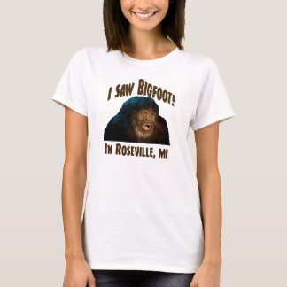 "¡Roseville Michigan ""vi Bigfoot! "" Playera"