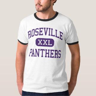 Roseville - panteras - alto - Roseville Illinois Camisas
