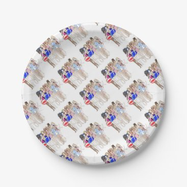 Beach Themed Rosevine Cottage Party Supplies Paper Plate