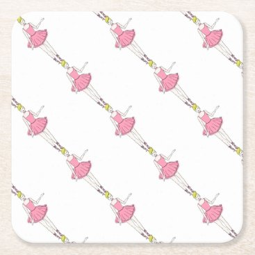 Beach Themed Rosevine Cottage Party Supplies Square Paper Coaster