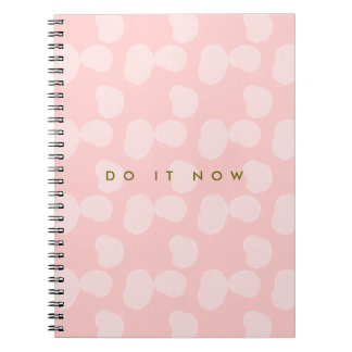 """Rosewater Smudges """"Do It Now"""" Spiral Notebook"""