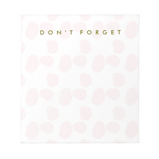 """Rosewater Smudges """"Don't Forget"""" Notepad"""