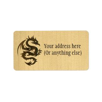 Rosewood Dragon Label