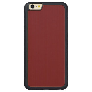 Rosewood High Quality One Color Carved® Maple iPhone 6 Plus Bumper