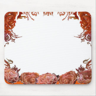 Rosey border mouse pad