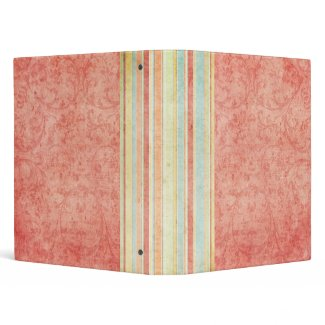 Rosey Bound with Stripes Any Use binder binder