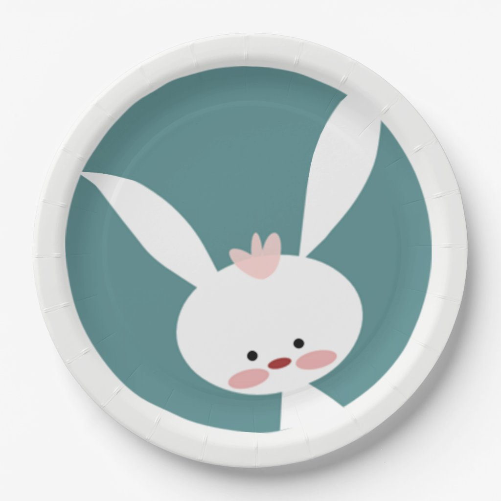 Rosey Cheeks Easter Paper Plate
