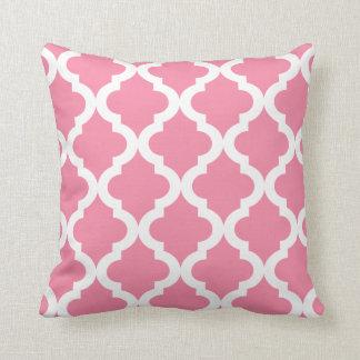 Rosey Cheeks  Moroccan Quatrefoil Print Throw Pillow