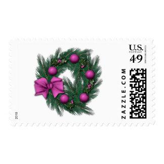 Rosey Christmas Postage