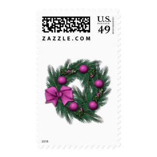 Rosey Christmas Postage Stamp