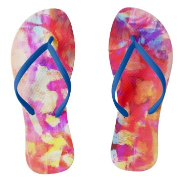 Beach Themed Rosey Flip Flops